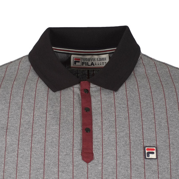 Fila Mens Grey BB1 Pinstripe Polo Shirt main image