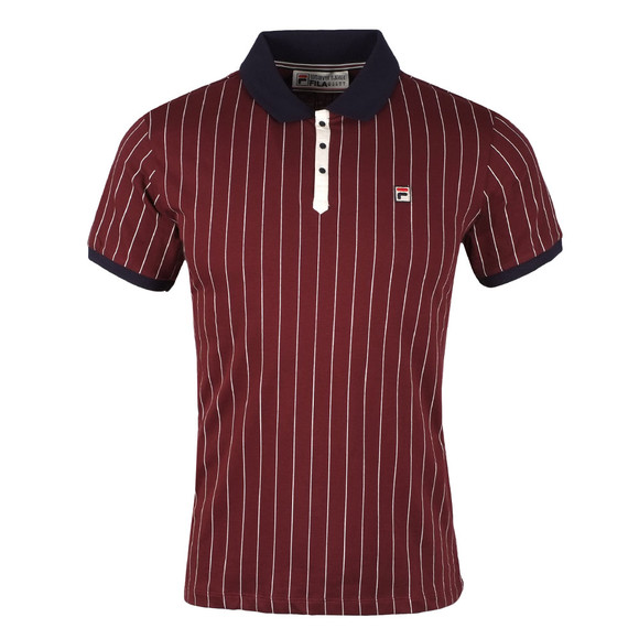 Fila Mens Red BB1 Pinstripe Polo Shirt main image