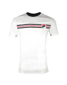 Fila Mens Off-white S/S Vandorno Panel Tee
