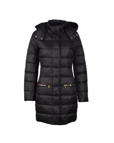EA7 Emporio Armani Womens Black Longer Length Down Jacket