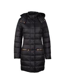 EA7 Emporio Armani Womens Black Longer Length Down Jacket