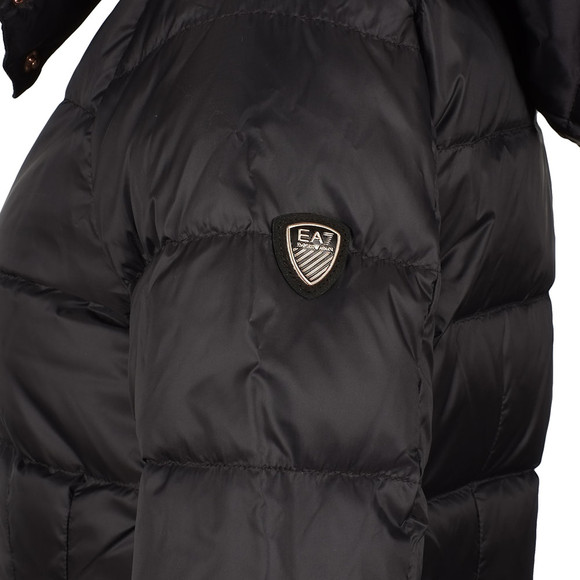 ee7cdf463c Womens Black Longer Length Down Jacket