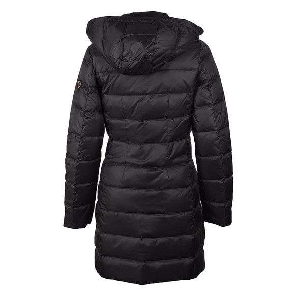 EA7 Emporio Armani Womens Black Longer Length Down Jacket main image