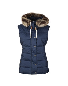 Barbour Lifestyle Womens Blue Beachley Quilt Gilet