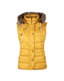 Barbour Lifestyle Womens Beige Beachley Quilt Gilet