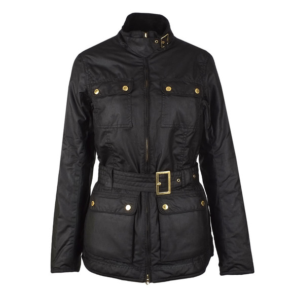 Barbour International Womens Black Heyford Wax Jacket main image