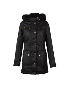 Barbour International Womens Black Mallory Wax Jacket