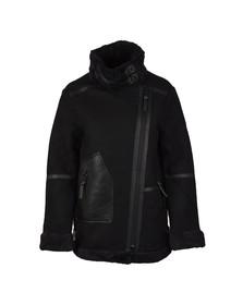 Superdry Womens Black Ophelia Wool Aviator Jacket