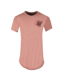 Sik Silk Mens Pink Curved Hem T Shirt