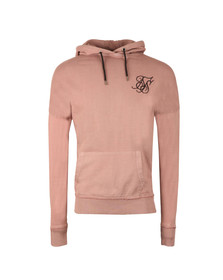 Sik Silk Mens Pink Drop Shoulder Overhead Hoodie