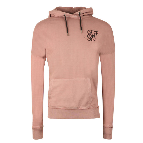 Sik Silk Mens Pink Drop Shoulder Overhead Hoodie main image
