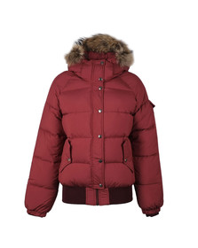 Pyrenex Womens Red Aviator Hooded Jacket