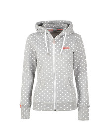 Superdry Womens Grey Orange Label AOP Zip Hoody