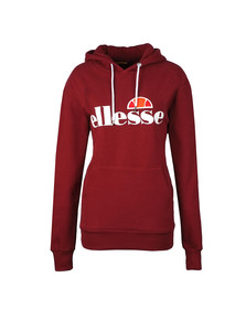 Ellesse Womens Red Torices Overhead Hoody
