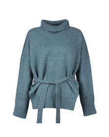 French Connection Womens Arona Blue Reba High Neck Knit Jumper