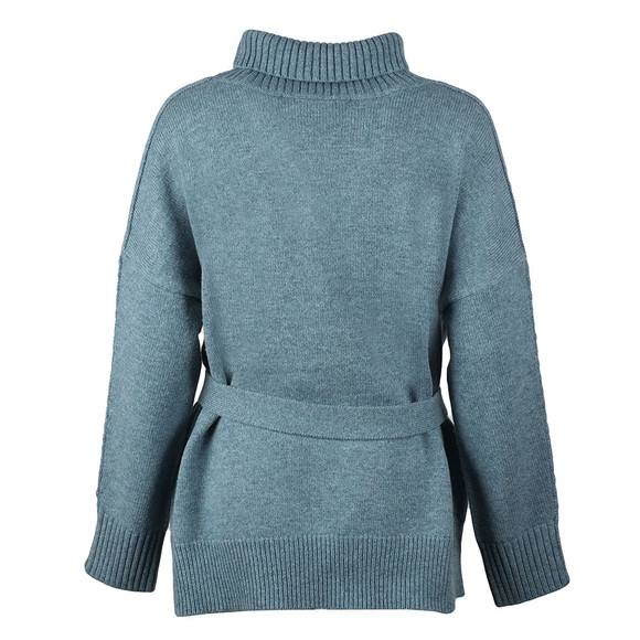 French Connection Womens Blue Reba High Neck Knit Jumper main image