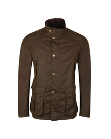 Barbour Lifestyle Mens Green Leeward Wax Jacket