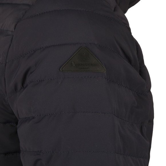 Aquascutum Mens Blue Emmett Diamond Quilted Hooded Jacket main image