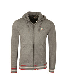 Pretty Green Mens Grey Zip Through Hoody