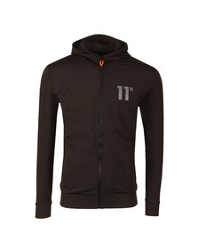 Eleven Degrees Mens Black Poly Zipped Jacket