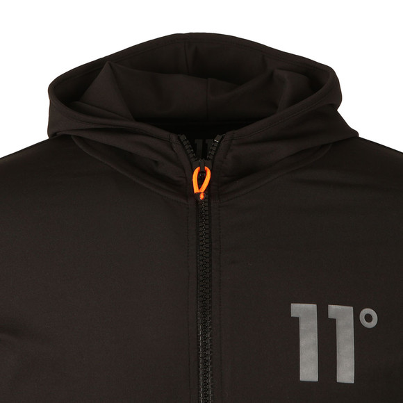 Eleven Degrees Mens Black Poly Zipped Jacket  main image