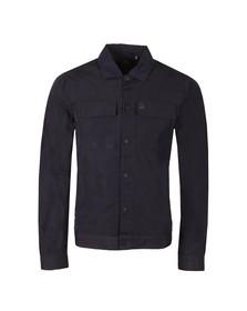 Luke 1977 Mens Blue Staunton Patch Pocket Overshirt
