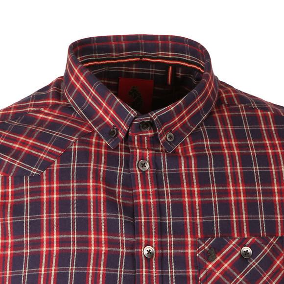 Luke Mens Blue Heyday Patch Pocket Detail Shirt main image