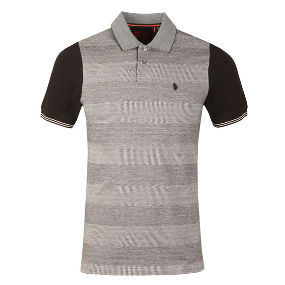 Luke Mens Silver Tony Tonal Stripe Polo main image