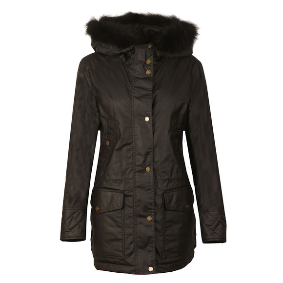 Belstaff Womens Black Clyde Parka With Fur