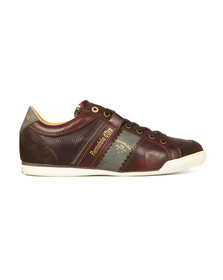 Pantofola d'Oro Mens Brown Savio Leather Trainer