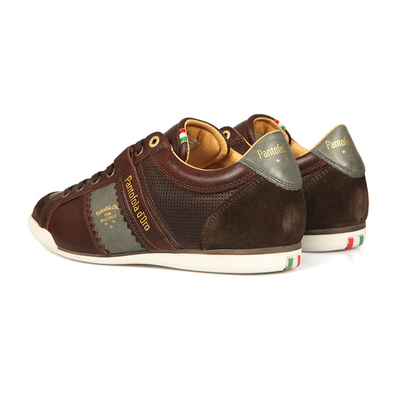 Pantofola d'Oro Mens Brown Savio Leather Trainer main image
