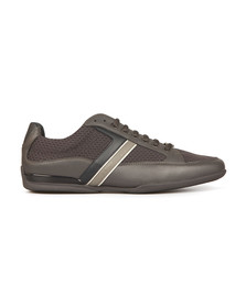 Boss Green Mens Grey Space Low Trainer
