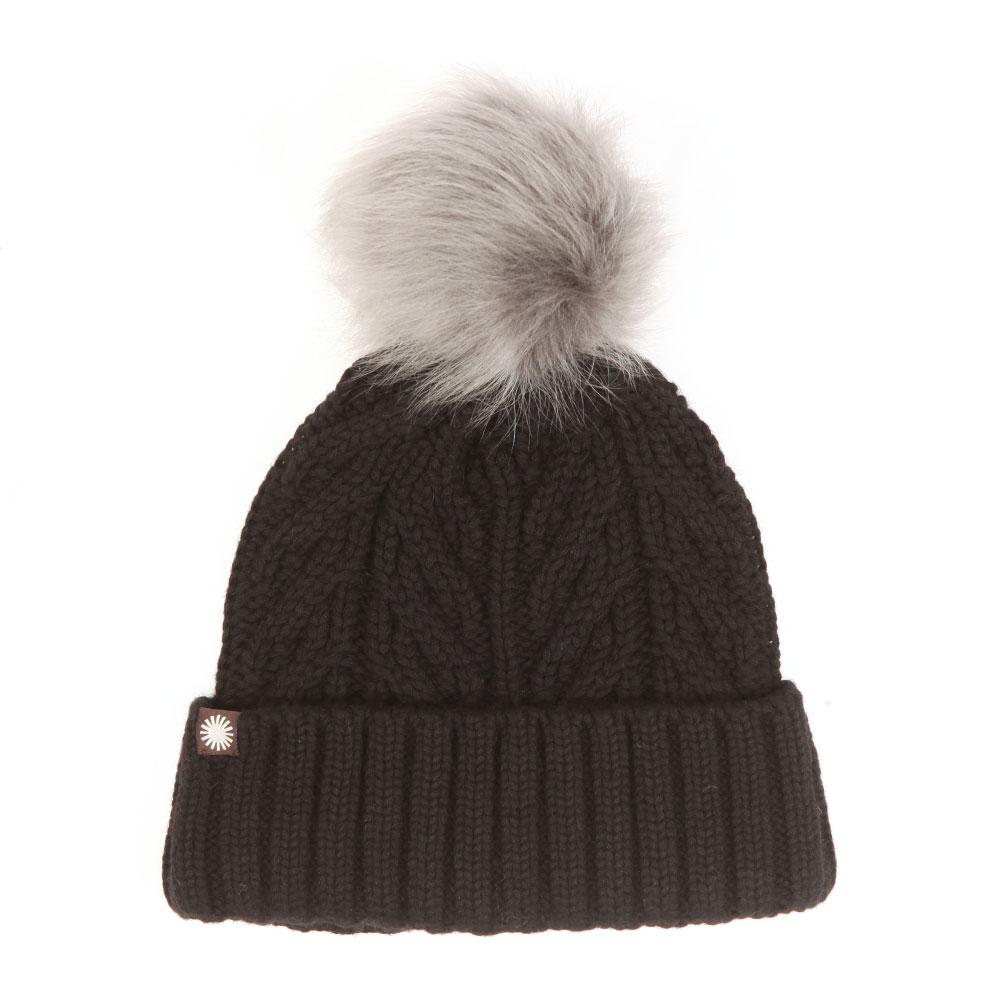 4bc50128e91 Ugg Textured Cuff Hat With Fur Pom Pom