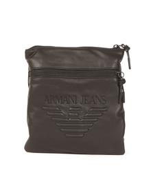 Armani Jeans Mens Black Large Logo Pouch