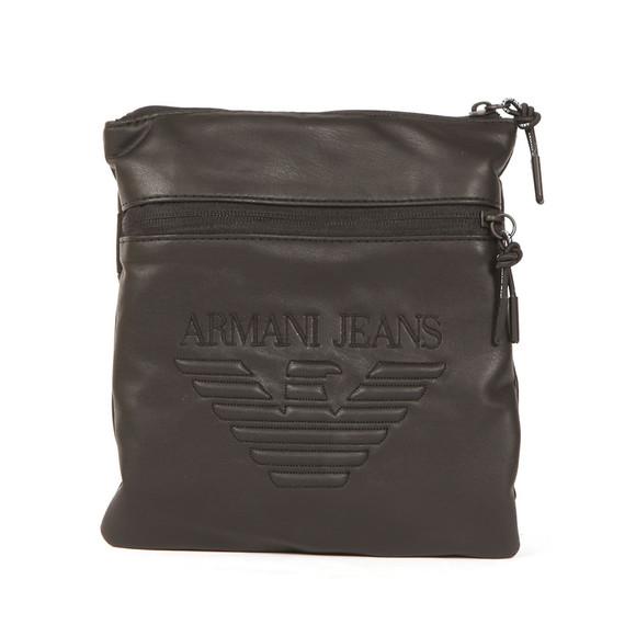Armani Jeans Mens Black Large Logo Pouch main image