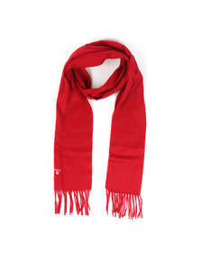 Barbour Lifestyle Mens Red Plain Scarf