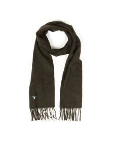 Barbour Lifestyle Mens Green Plain Scarf