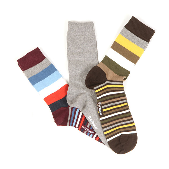 Barbour Lifestyle Mens Multicoloured Haywood Sock Gift Set main image