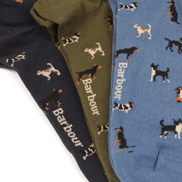 Barbour Lifestyle Mens Multicoloured Dog Motif Sock Box main image