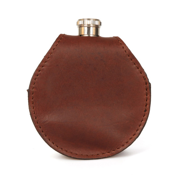 Barbour Lifestyle Mens Brown Round Hip Flask main image