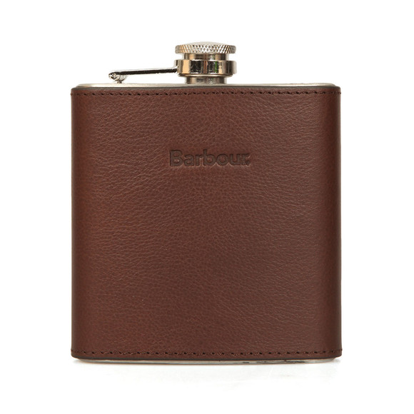 Barbour Lifestyle Mens Brown Hip Flask Gift Box main image