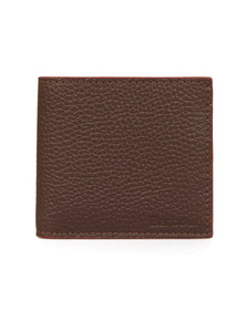 Barbour Lifestyle Mens Brown Grain Leather Wallet