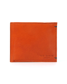 Ted Baker Mens Brown Vivid Coloured Bifold Wallet