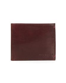 Ted Baker Mens Red Vivid Coloured Bifold Wallet