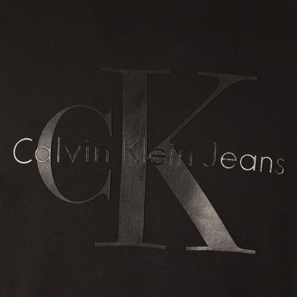 Calvin Klein Mens Black L/S Print Crew Sweat main image