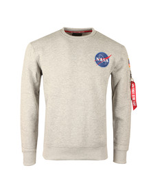 Alpha Industries Mens Grey Space Shuttle Sweat