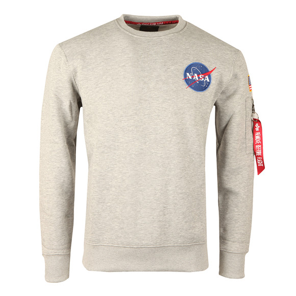 Alpha Industries Mens Grey Space Shuttle Sweatshirt