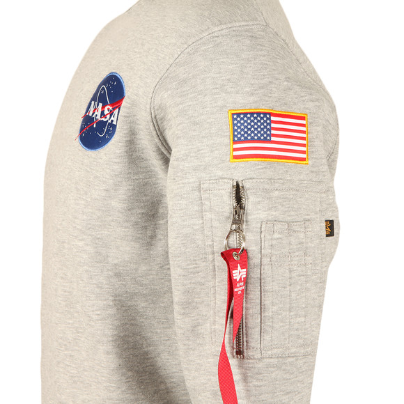 Alpha Industries Mens Grey Space Shuttle Sweat main image