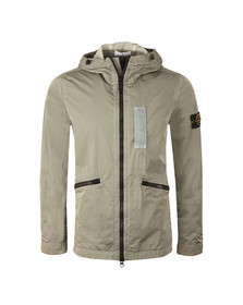 Stone Island Mens Grey Nylon Metal Flock Jacket