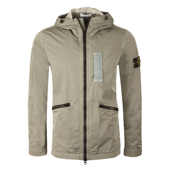 Stone Island Mens Grey Nylon Metal Flock Jacket main image